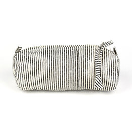 Striped Block Print Cosmetic Bag
