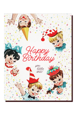 Vintage Little Shit Greeting Card
