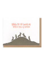 Pack of Wolves (Brown) Greeting Card