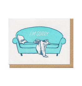 The I'm Sorry Couch Greeting Card