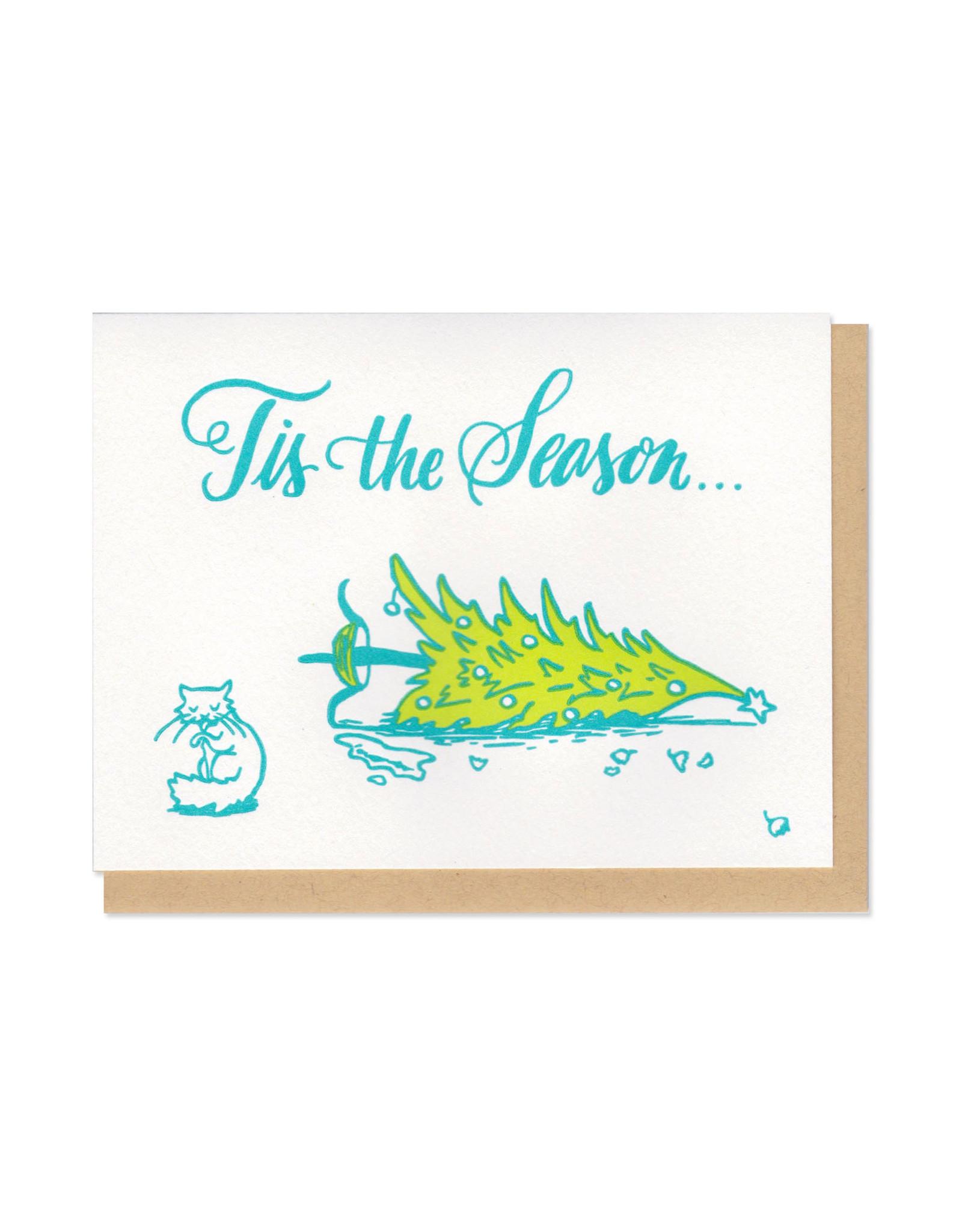 Tis The Season Cat & Tree Greeting Card
