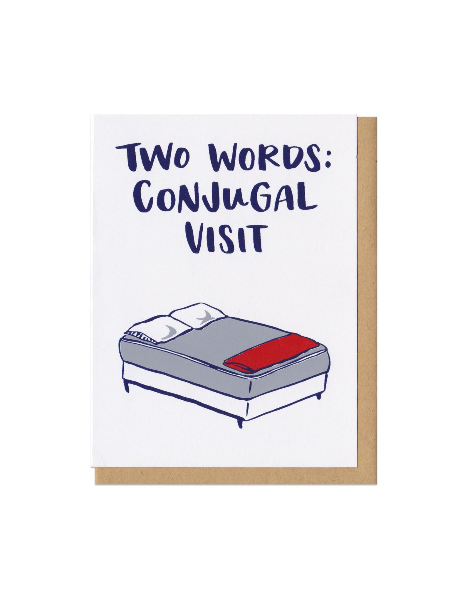 Two Words: Conjugal Visit Greeting Card