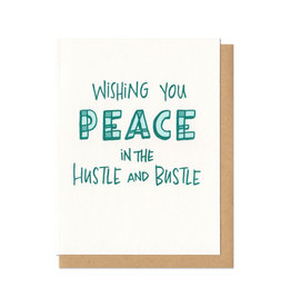 Wishing You Peace in the Hustle & Bustle Greeting Card Boxed Set of 6