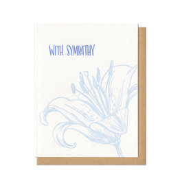With Sympathy Tiger Lily Greeting Card