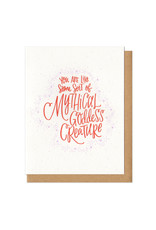 Mythical Goddess Creature Greeting Card