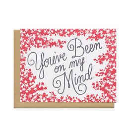 You've Been On My Mind (Red) Greeting Card