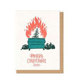 Dumpster Fire Christmas Greeting Card