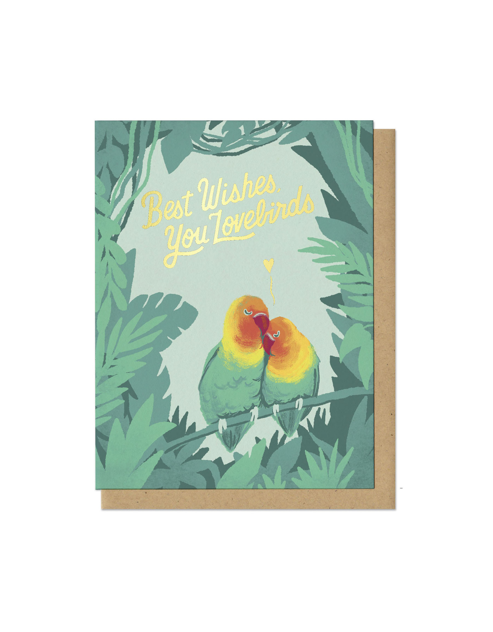 Best Wishes, You Lovebirds Greeting Card