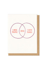 2020 - I Miss/Hate People Greeting Card