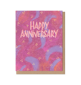 Colorful Classics Happy Anniversary Greeting Card