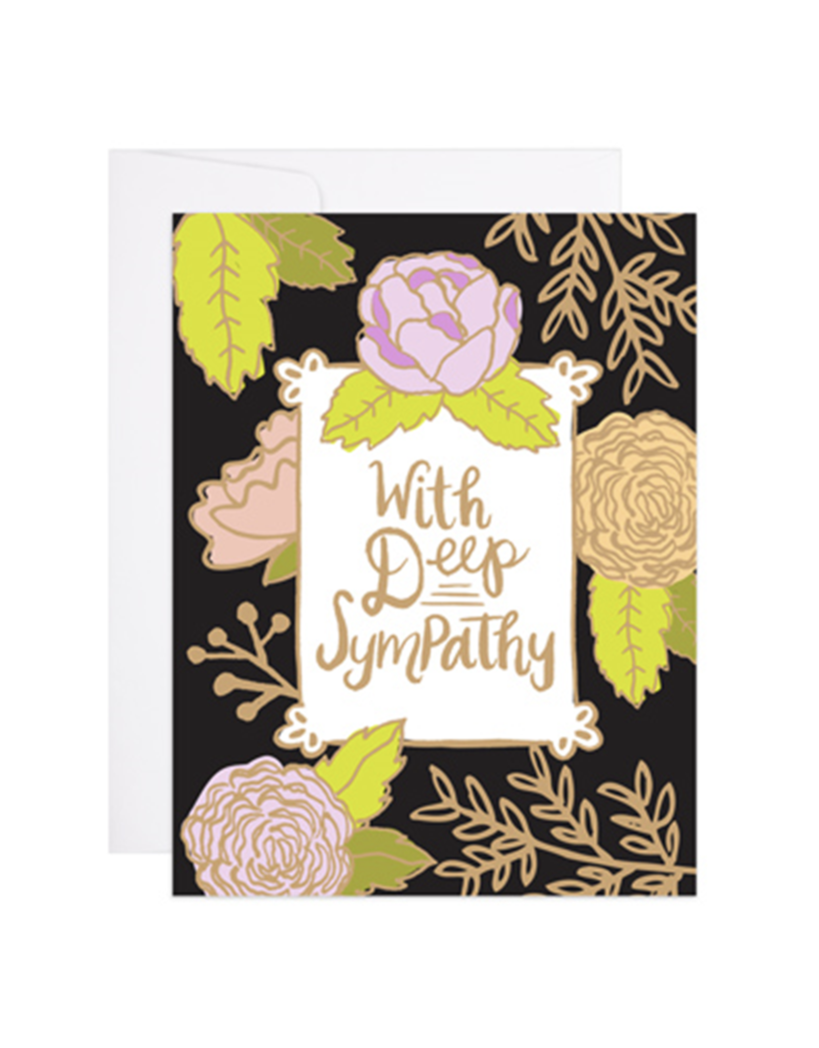 With Deep Sympathy Floral Greeting Card