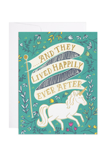 Happily Ever After Unicorn Greeting Card