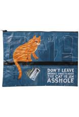 The Cat is an Asshole Zipper Pouch