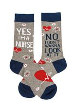 Yes I'm a Nurse Socks