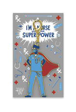 I'm a Nurse, What's Your Superpower? Keychain