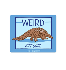 Weird Cool Pangolin Bumper Sticker