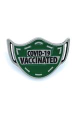 COVID-19 Vaccinated Mask Pin - Green