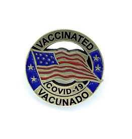 Bilingual COVID-19 Vaccinated Pin