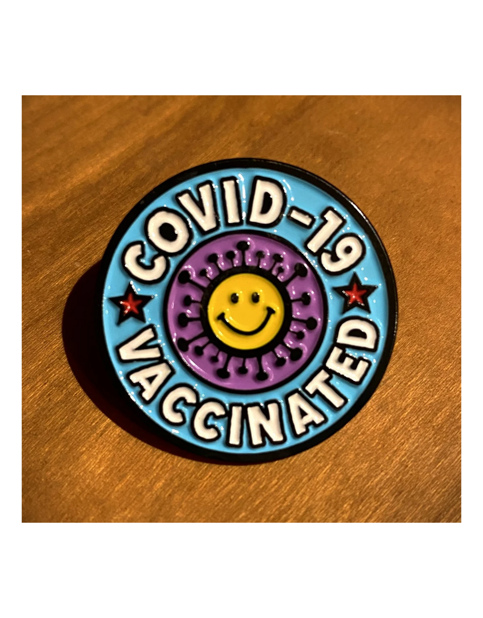 COVID-19 Vaccinated Enamel Pin