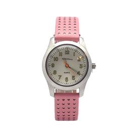 Midi Basic Watch - Pink w/Beige Dots
