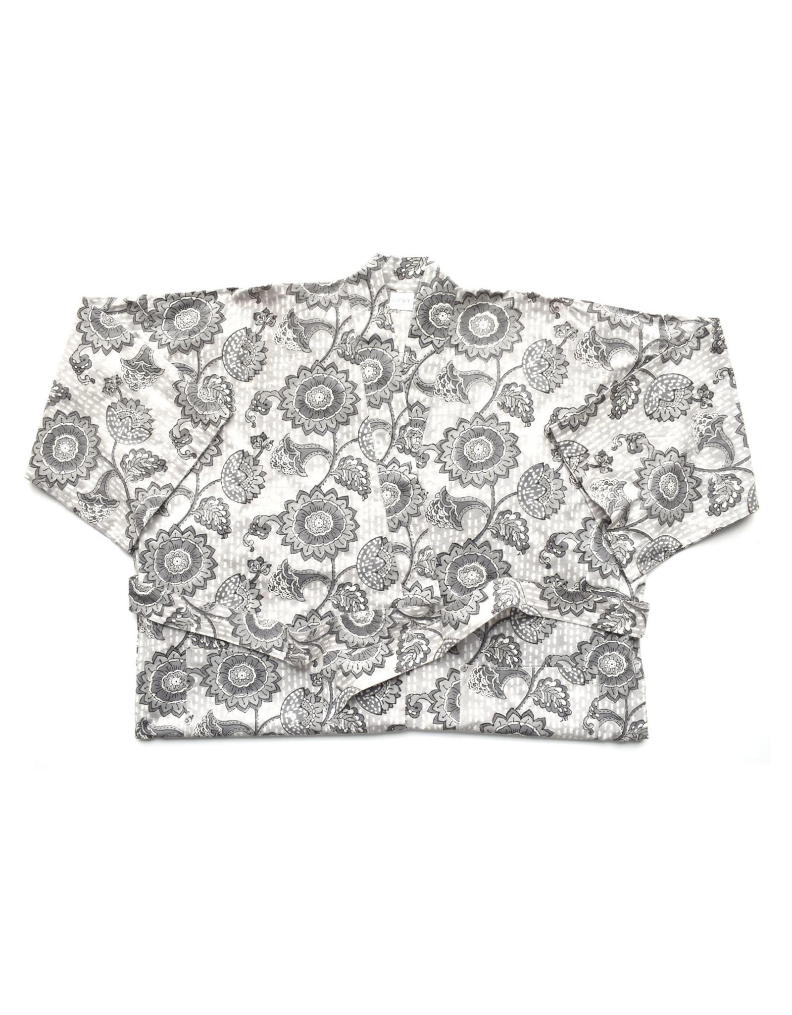 Neena Grey Cotton Robe