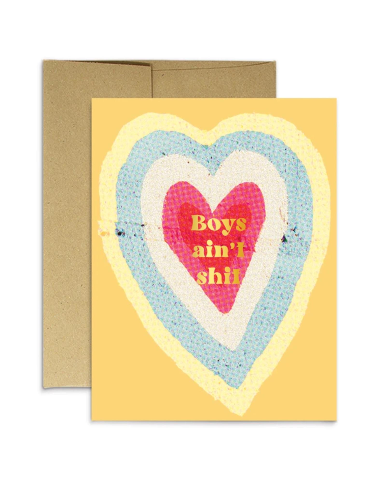 Boys Ain't Shit Greeting Card