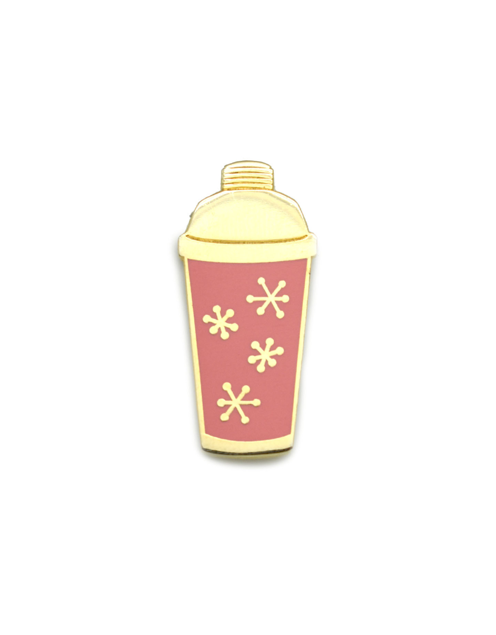 Cocktail Shaker Pin - Pink & Gold