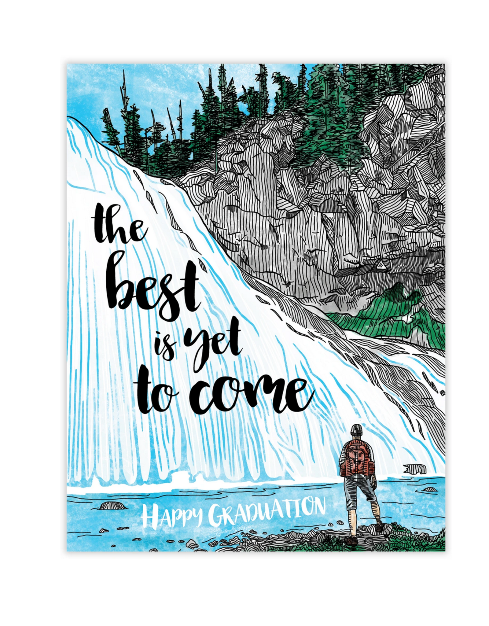 Waterknot The Best Is Yet To Come Graduation Greeting Card
