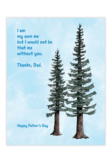 Waterknot Happy Father's Day Conifers Greeting Card