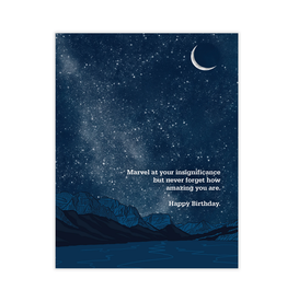 Waterknot Marvel At Your Insignificance Birthday Greeting Card