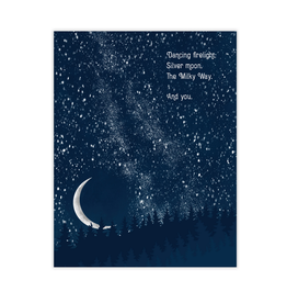 Waterknot The Milky Way and You Greeting Card