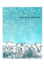 Waterknot So Sorry For Your Loss Mountains Greeting Card