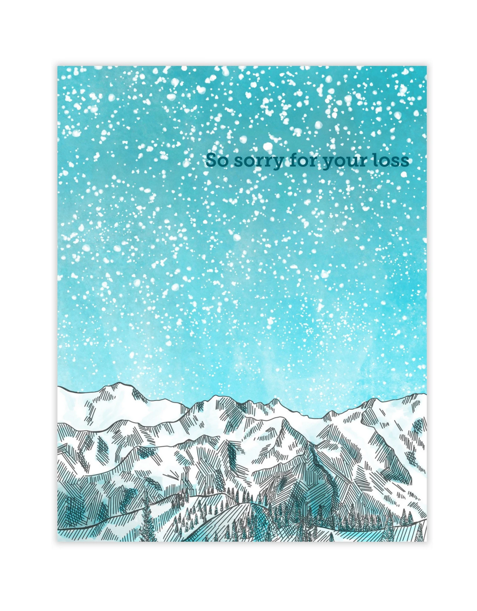 So Sorry For Your Loss Mountains Greeting Card