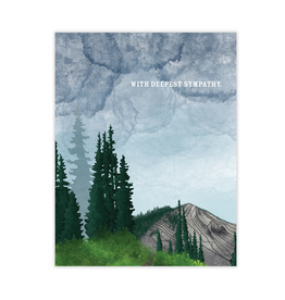 Waterknot With Deepest Sympathy Trees Greeting Card