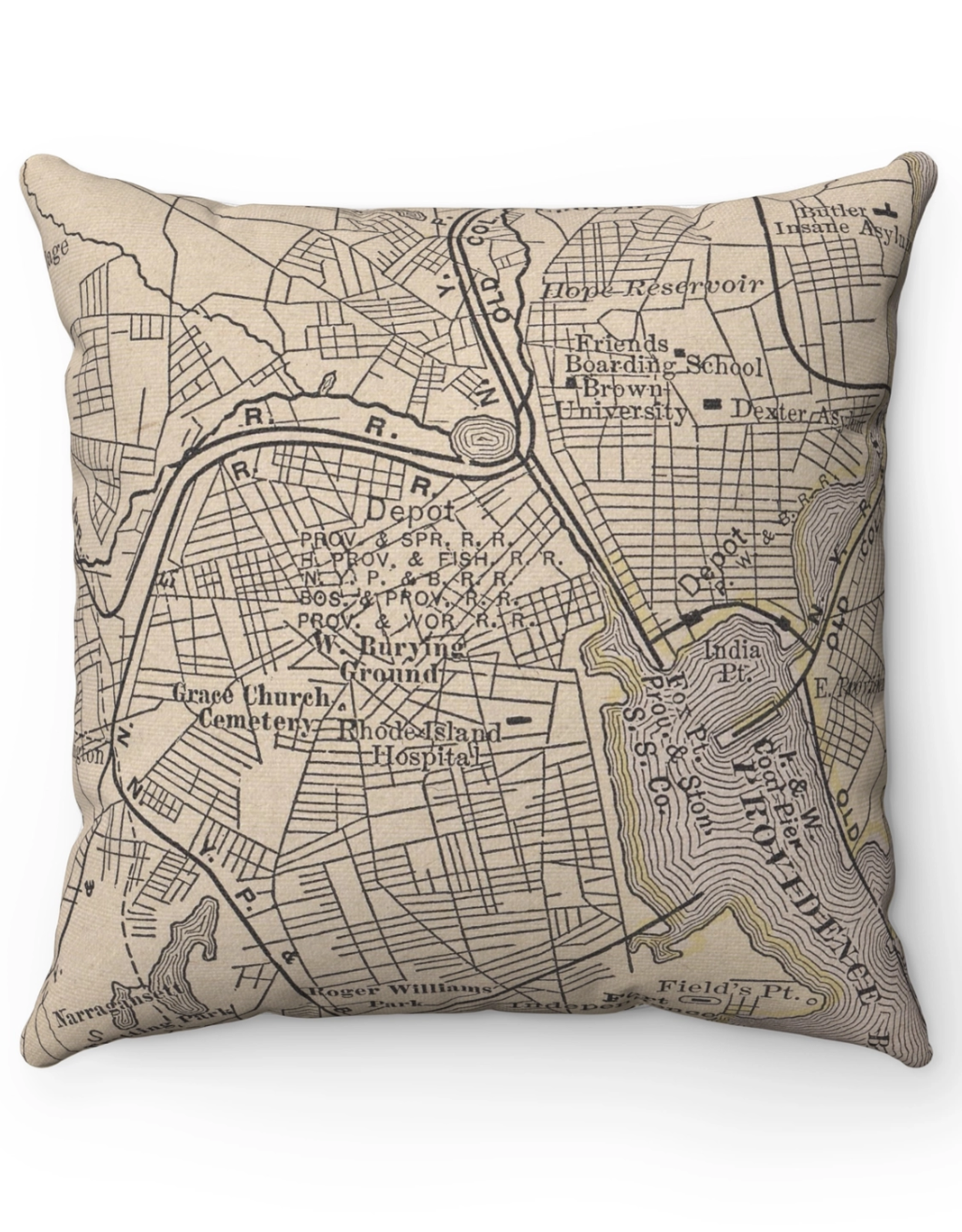 Providence Map Pillow