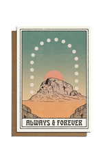 Cai & Jo Always & Forever Plateau Greeting Card