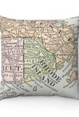 Rhode Island Map Pillow