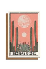 Cai & Jo Birthday Wishes Cacti Greeting Card