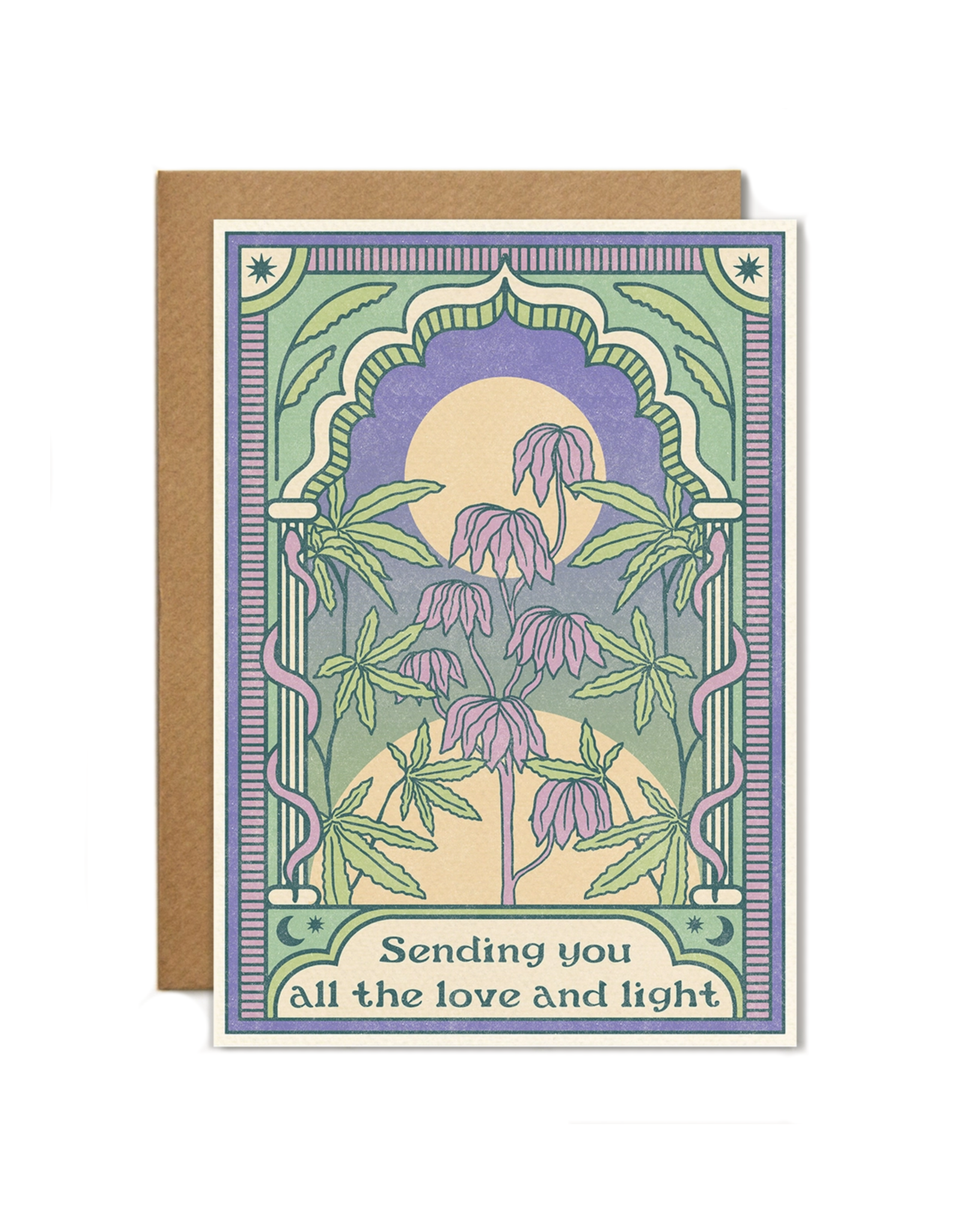 Cai & Jo Sending You All the Love and Light Greeting Card