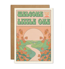 Welcome Little One Sunset Greeting Card