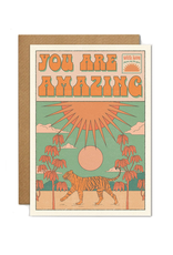 Cai & Jo You Are Amazing Tiger Greeting Card
