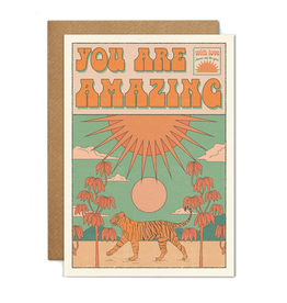 You Are Amazing Tiger Greeting Card