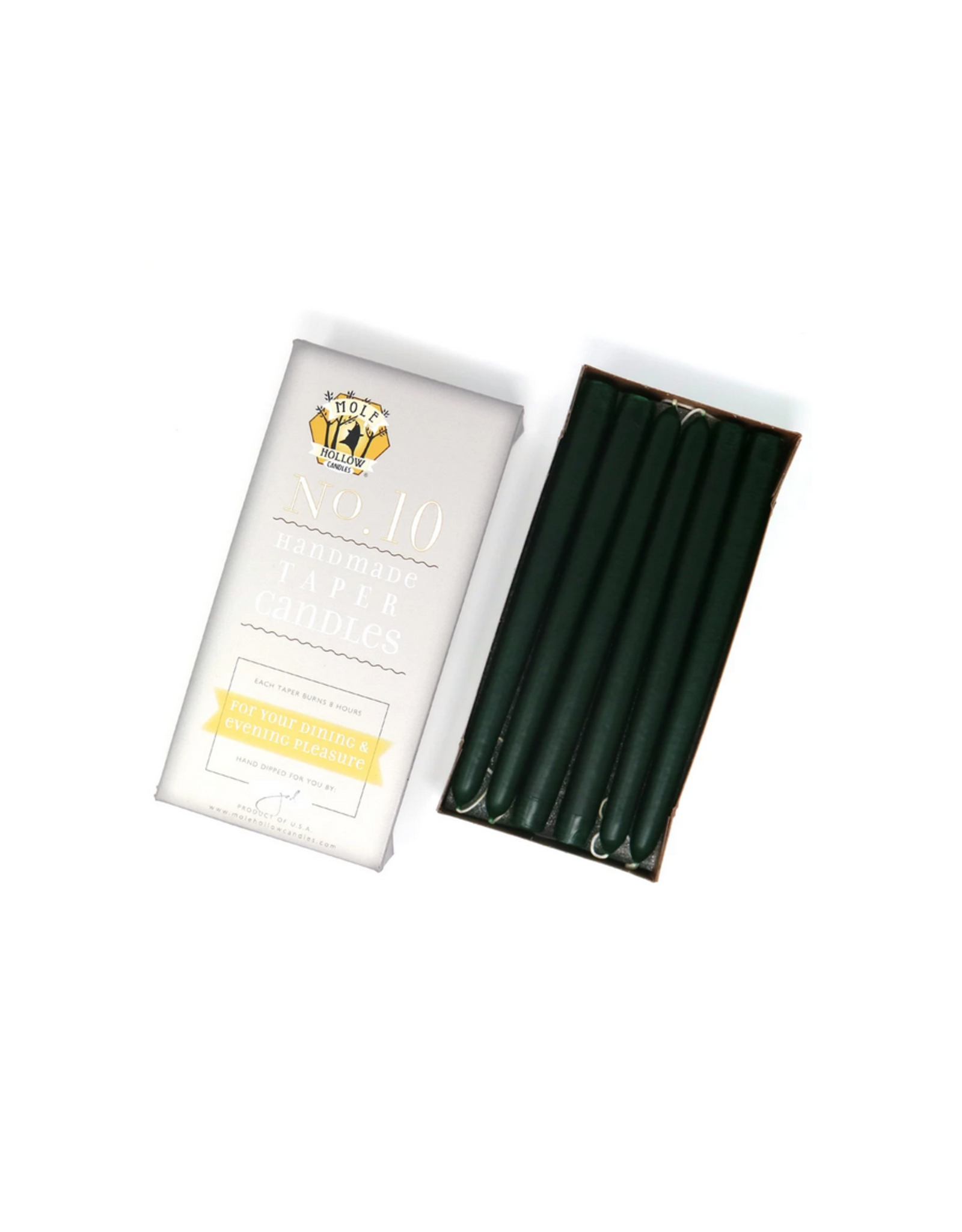 Hunter Green Taper Candle