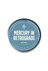 Mercury in Retrograde Tin Candle