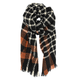 Windowpane Scarf - Black