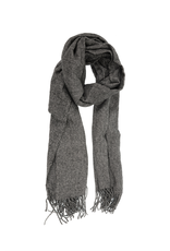 Heathered Fringe Scarf - Black