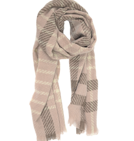 Windowpane Scarf - Dusty Pink