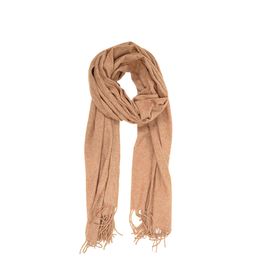 Heathered Fringe Scarf - Orange