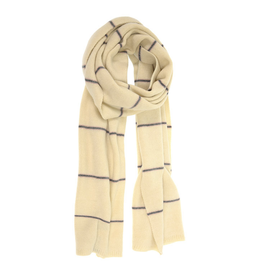 Simple Stripe Scarf - Ivory