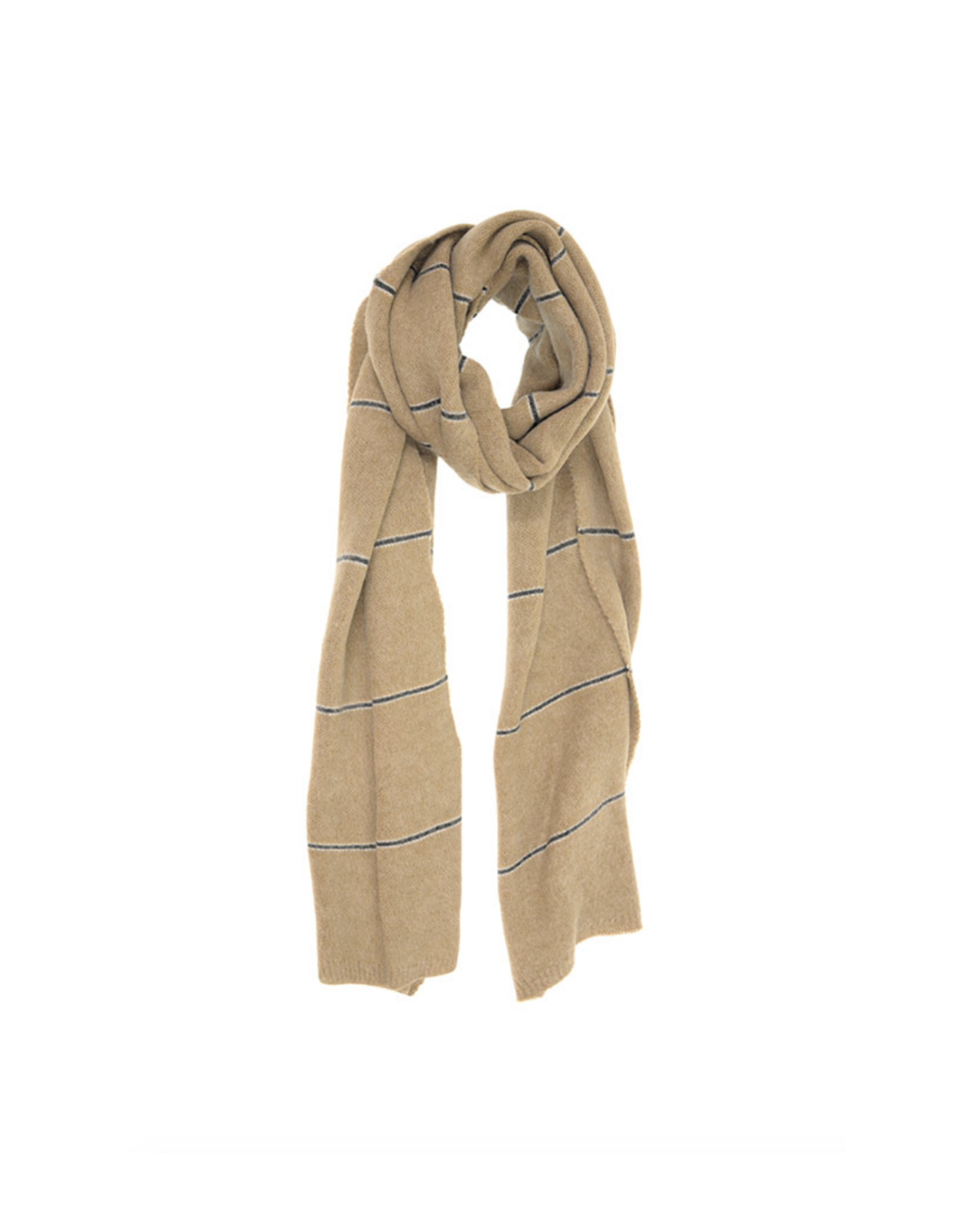 Simple Stripe Scarf - Camel